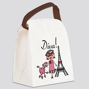 Red Haired Diva Canvas Lunch Bag