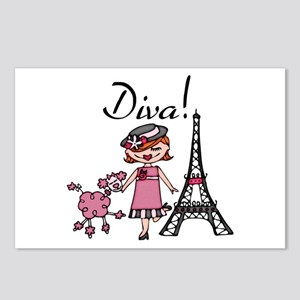 Red Haired Diva Postcards (Package of 8)