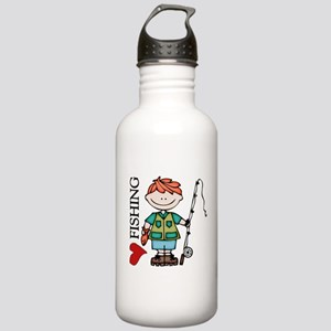 Redhead Boy Love Fishing Stainless Water Bottle 1.