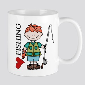 Redhead Boy Love Fishing Mug