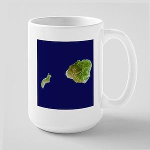 Kaua`i & Ni`ihau Landsat Large Mug