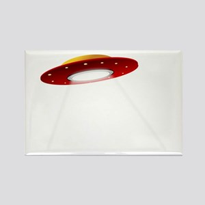 UFO Spaceship Rectangle Magnet