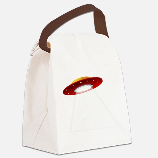 UFO Spaceship Canvas Lunch Bag