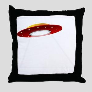 UFO Spaceship Throw Pillow