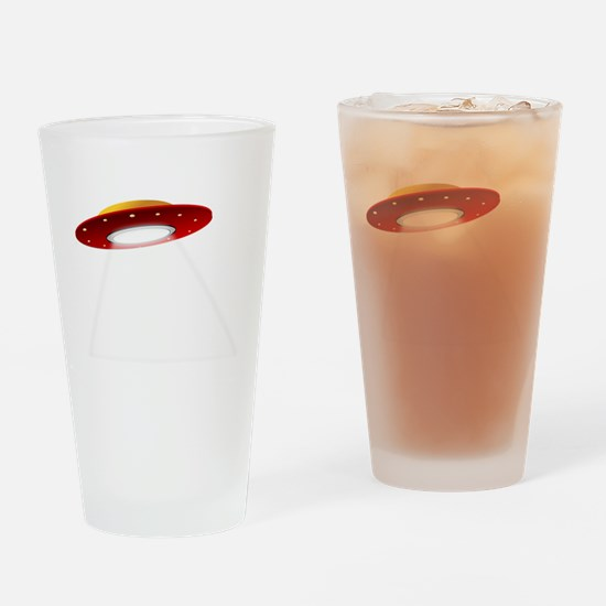 UFO Spaceship Drinking Glass