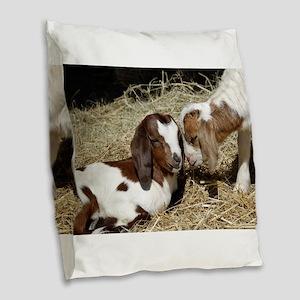 Friends Burlap Throw Pillow