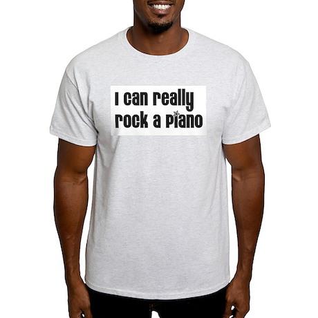 I Can Really Rock A Piano Ash Grey T-Shirt