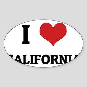california Sticker (Oval)