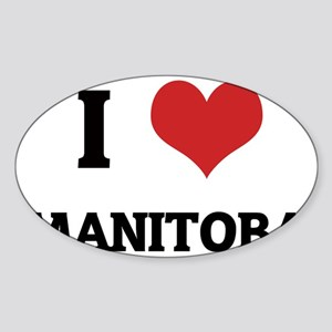 MANITOBA Sticker (Oval)