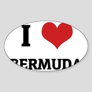 BERMUDA Sticker (Oval)