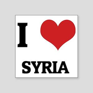 """SYRIA Square Sticker 3"""" x 3"""""""