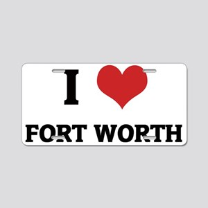 FORT WORTH Aluminum License Plate