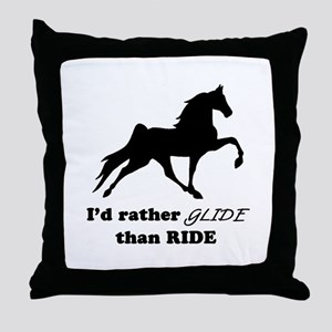 I'd Rather Glide Throw Pillow
