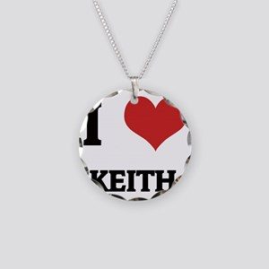 KEITH Necklace Circle Charm