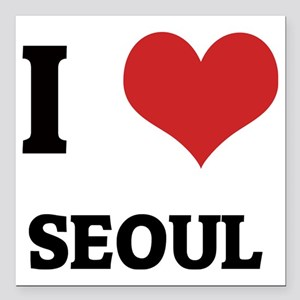 "SEOUL Square Car Magnet 3"" x 3"""