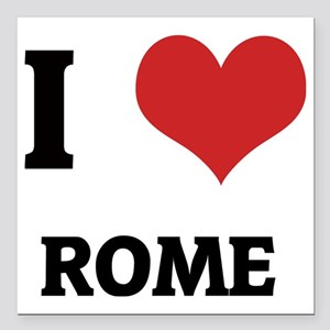 "ROME Square Car Magnet 3"" x 3"""