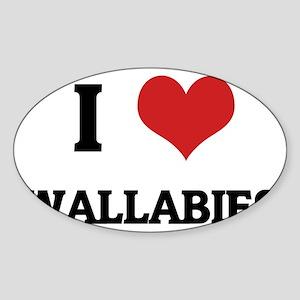 WALLABIES Sticker (Oval)