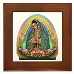 Guadalupe Yellow Aura Framed Tile
