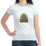 Guadalupe Yellow Aura Jr. Ringer T-Shirt