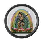 Guadalupe Yellow Aura Large Wall Clock