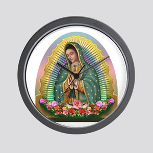 Guadalupe Yellow Aura Wall Clock