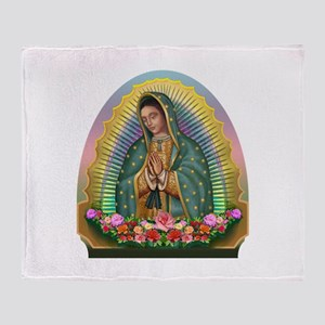 Guadalupe Yellow Aura Throw Blanket