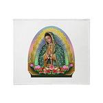Guadalupe Yellow Aura Throw Blanket