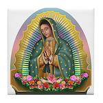 Guadalupe Yellow Aura Tile Coaster