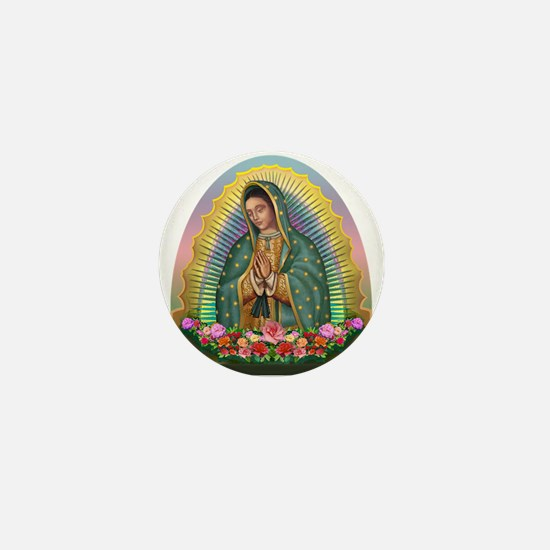 Guadalupe Yellow Aura Mini Button