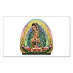 Guadalupe Yellow Aura Sticker (Rectangle 50 pk)