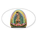 Guadalupe Yellow Aura Sticker (Oval 50 pk)