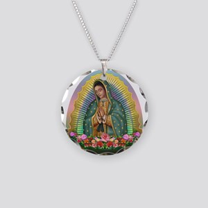 Guadalupe Yellow Aura Necklace Circle Charm