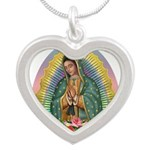 Guadalupe Yellow Aura Silver Heart Necklace