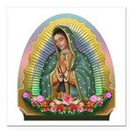Guadalupe Yellow Aura Square Car Magnet 3