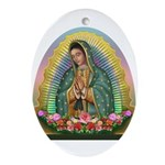 Guadalupe Yellow Aura Ornament (Oval)