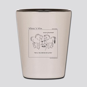 WhinnynWine Horse Cartoon- Lusitano Bull Shot Glas