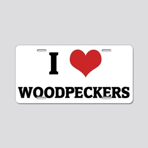 WOODPECKERS Aluminum License Plate