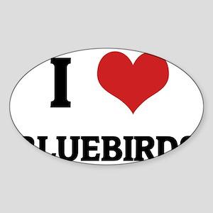 BLUEBIRDS Sticker (Oval)