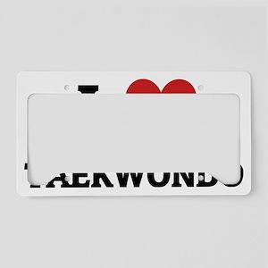TAEKWONDO License Plate Holder