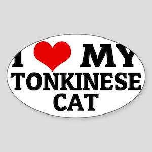 TONKINESE CAT Sticker (Oval)
