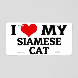 SIAMESE CAT Aluminum License Plate