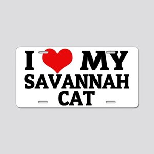 SAVANNAH CAT Aluminum License Plate