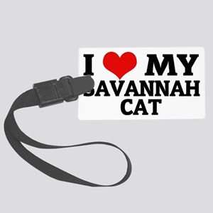 SAVANNAH CAT Large Luggage Tag