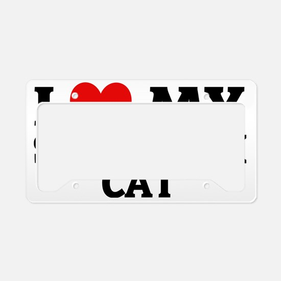 SAVANNAH CAT License Plate Holder