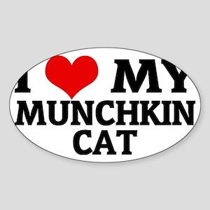 MUNCHKIN CAT Sticker (Oval)