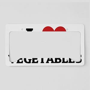 VEGETABLES License Plate Holder
