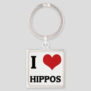 HIPPOS Square Keychain