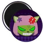 Alien Neko Angry Badge Magnet