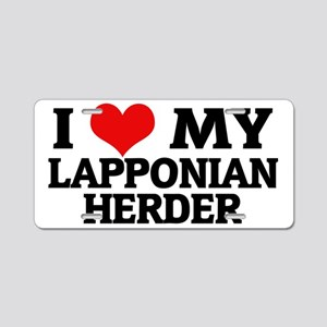 LAPPONIAN HERDER Aluminum License Plate