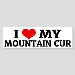 MOUNTAIN CUR Sticker (Bumper)